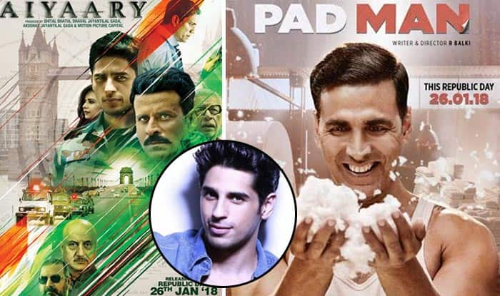 Sidharth Malhotra Reacts To Padman VS Aiyaary Clash And It's Not What You'd Expect
