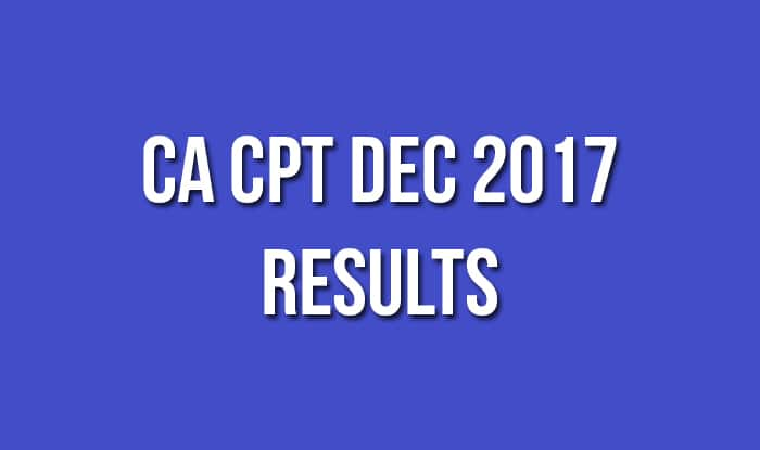 CA CPT Dec 2017 Results