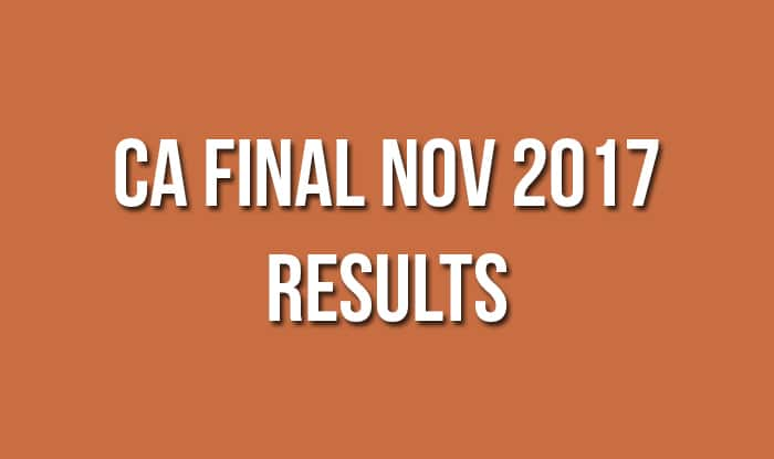 CA Final Nov 2017 Results
