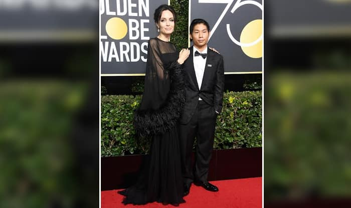 Golden Globes 2018: Angelina Jolie Arrives at The Event With Son Pax