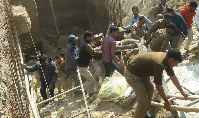 Uttar Pradesh: Two Persons Dead After Basement of Commercial Complex Collapses in Kanpur