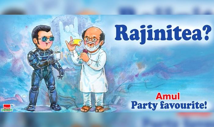 Amul Dedicates a Topical On Rajinikanth's Entry Into Politics; Calls it 'Rajinitea'