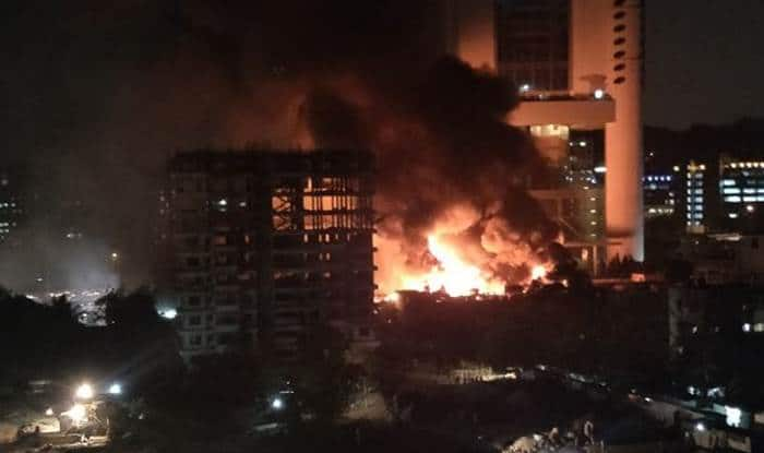 Fire breaks out in a factory in Goregaon East
