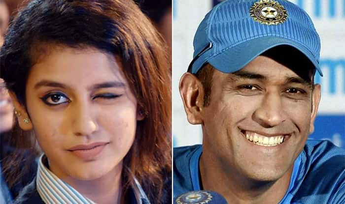 Priya Prakash Varrier, the 'National Crush' of India is Stumped By MS Dhoni