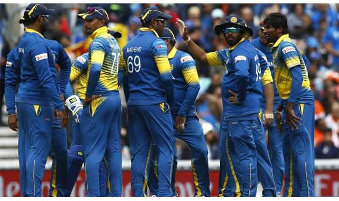 File Image of Angelo Mathews with his teammates