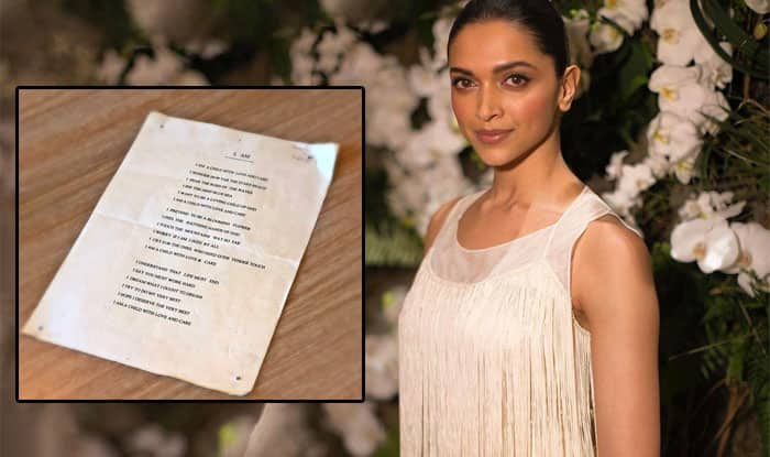 Deepika Padukone Shares A Poem She Penned In 7th Grade, Fans Can't Stop Gushing