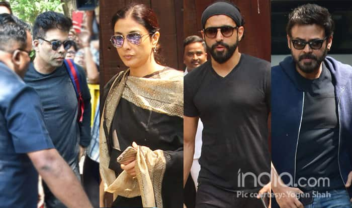 Following Sridevi's Death, Karan Johar, Tabu, Farhan Akhtar Visit Anil Kapoor's House To Be With Janhvi Kapoor – See Pics