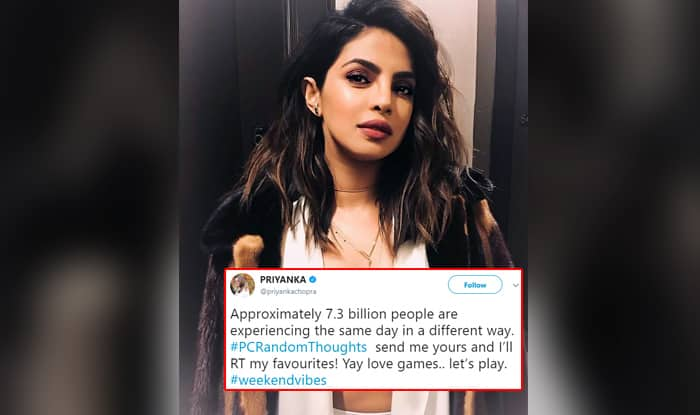 Priyanka Chopra Asked Twitterati For Their Random Thoughts and They Happily Obliged With Funny and Hilarious Ones