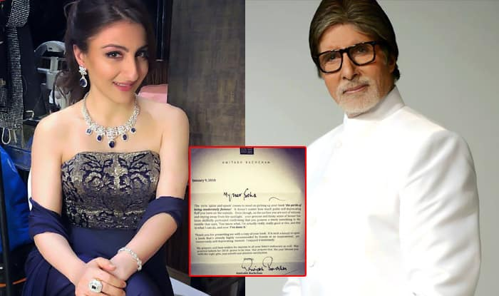 Soha Ali Khan's Feels Honoured As Amitabh Bachchan Reads Her Debut Book And Sends A Letter Of Encouragement – See Tweet