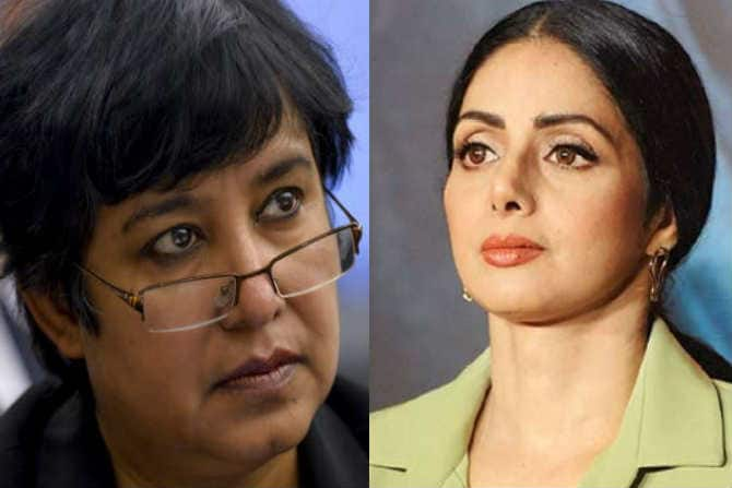 Sridevi's Death : Controversial Author Taslima Nasreen Receives Slack For Raising Conspiracy Theories Regarding The Late Actress' Untimely Demise