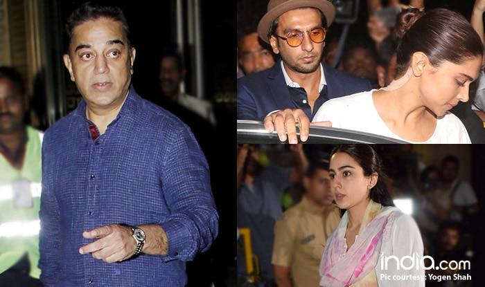 Sara Ali Khan, Kamal Haasan, Ranveer Singh, Deepika Padukone Visit Anil Kapoor's Residence To Pay Their Respects – View Pics