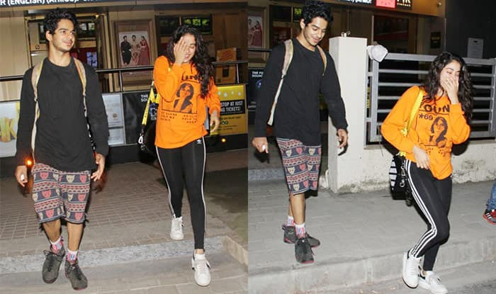 Latest Pictures Of Janhvi Kapoor Prove Why Dhadak Co-Star Ishaan Khatter Is Her Favourite Movie Night Date