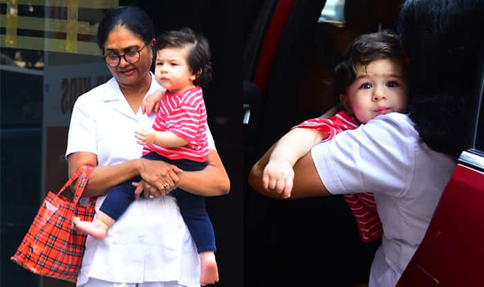Taimur Ali Khan Pouts Just Like Mommy Kareena Kapoor Khan As He Gets Snapped By The Paparazzi In Bandra – See Pics