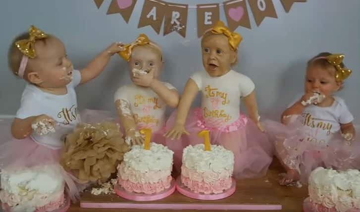 Mother Creates Life-Size Edible Cake Versions of Her Twin Daughters to Make Their Birthday Special (Video)