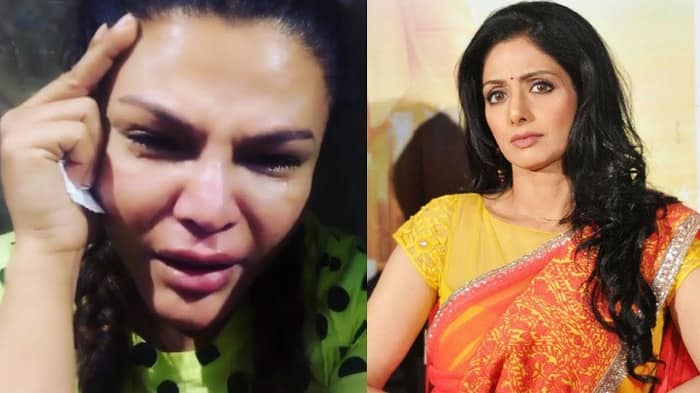 Rakhi Sawant Gets Heavily Trolled For Sharing A Picture Of Sridevi's Mortal Remains