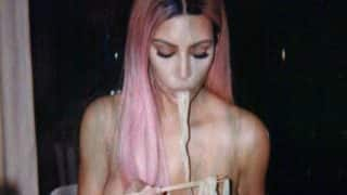 Nudels: Kim Kardashian Shares Nude Photo of Her Eating Noodles, Breaks the Internet Again