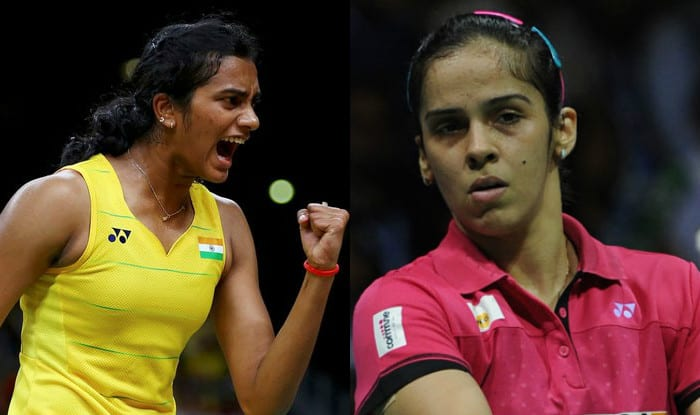 File image of PV Sindhu and Saina Nehwal