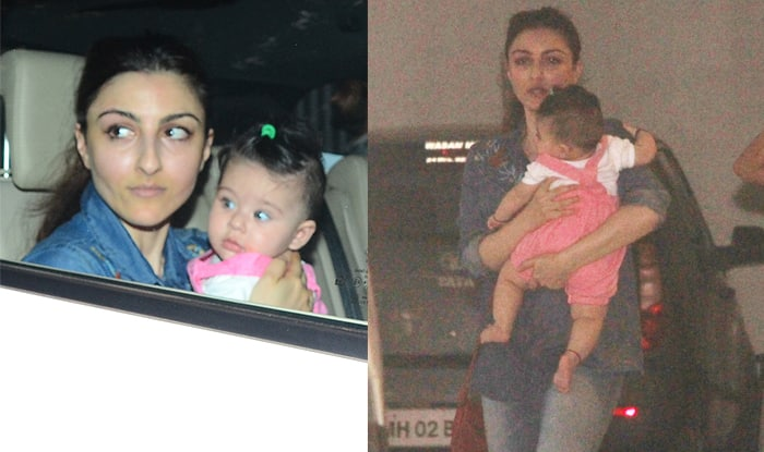 Soha Ali Khan and Inaaya Naumi Kemmu Go Out For A Joy Ride But The Little One Can't Stop Staring At The Shutterbugs – View Pics