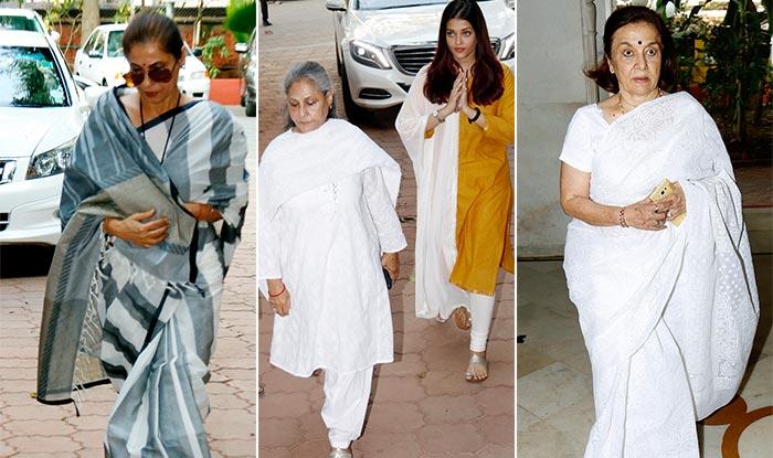 Aishwarya Rai Bachchan, Dimple Kapadia, Asha Parekh And More Bollywood Celebs At Shammi Aunty's Prayer Meet