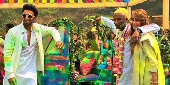 Holi 2018 : Ranveer Singh Celebrates The Festival Of Colours With American Singer Pharrell Williams – View Pics