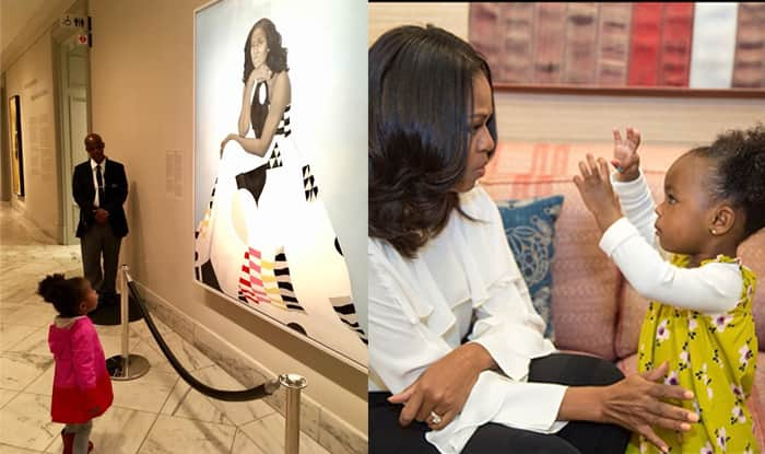Michelle Obama Finally Meets the Little Girl Whose Photo of Being Awestruck By Her Portrait Had Gone Viral