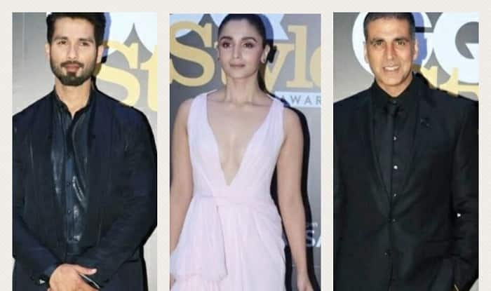 GQ Style Awards 2018 : Alia Bhattt, Akshay Kumar, Shahid Kapoor Leave Us Speechless With Their Charming Red Carpet Appearances