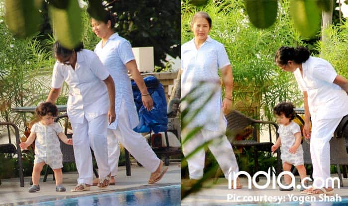 Taimur Ali Khan Chills By The Pool To Beat The Mumbai Heat – See Pics