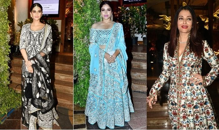 Aishwarya Rai Bachchan, Sara Ali Khan, Sonam Kapoor, Bhumi Pednekar and More Bollywood Celebs at Saudamini Matto's Wedding Reception- View Pics