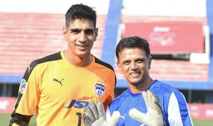 Rahul Dravid Becomes Goalkeeper, Takes Football Lessons From Gurpreet Singh Sandhu