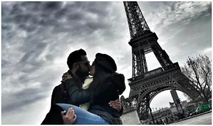 Newlyweds Vatsal Sheth And Ishita Dutta Kiss Under The Eiffel Tower, Picture Goes Viral