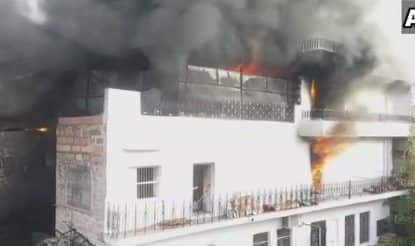 Jodhpur: Fire Breaks Out in Plastic Godown, 20 Fire Tenders on Spot