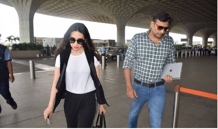 Karisma Kapoor And Alleged Beau Sandeep Toshniwal Take A Flight Out Of Mumbai Together; Are They Planning ToMake Their Relationship Official?