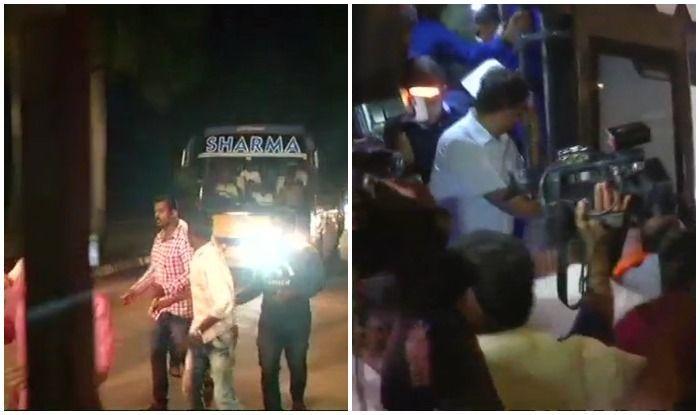 कांग्रेस-जेडीएस के विधायकों की चार्टर्ड फ्लाइट रोकी, बस से गए आंध्रप्रदेश