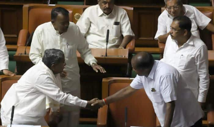 Kumaraswamy with Siddaramaiah
