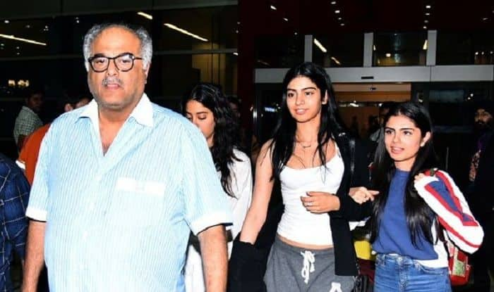Janhvi Kapoor, Khushi Kapoor, Boney Kapoor In Delhi To Receive Late Actress Sridevi's National Award – View Pics