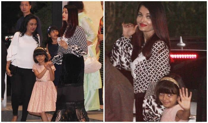 Aishwarya Rai Bachchan And Daughter Aaradhya Snapped Post Dinner In A Plush Restaurant – See Pics