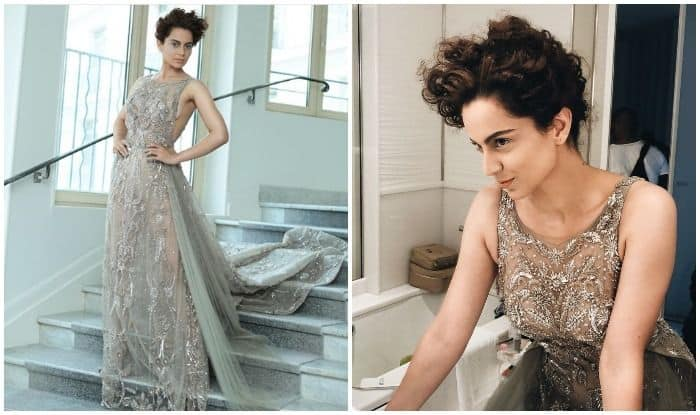Cannes 2018: Kangana Ranaut Stuns At The Film Festival In A Glittery Grey Dress – See Pics
