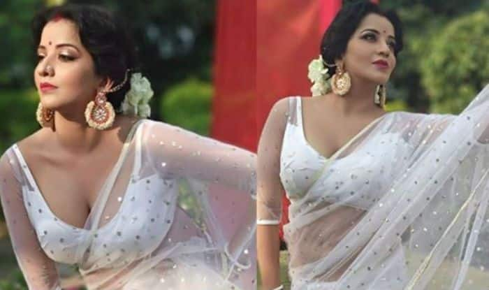Former Bigg Boss Contestant Monalisa Raises Hotness Quotient With Her Dance in White Saree, Watch