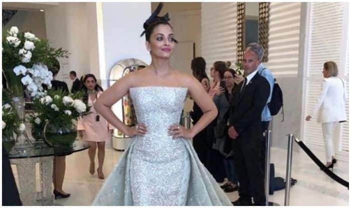 Cannes 2018 : Aishwarya Rai Bachchan Rules The Red Carpet Wearing This Rami Kadi Designed Strapless Powder Blue Coloured Dress