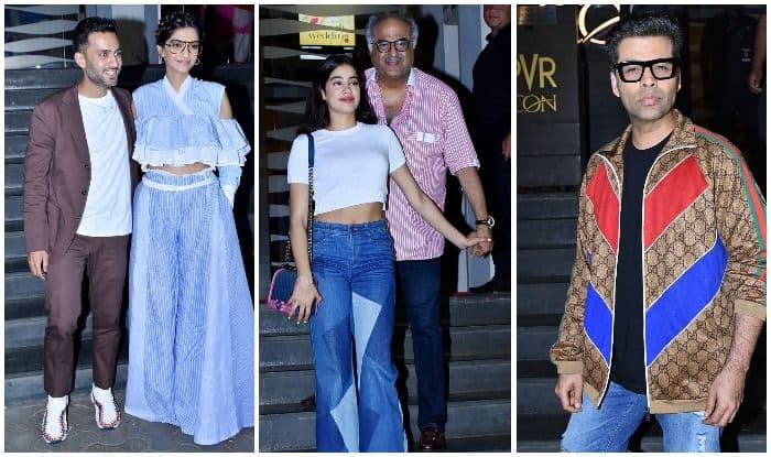 Sonam Kapoor-Anand Ahuja, Janhvi Kapoor, Karan Johar, Attend Veere Di Wedding's Screening – View Pics