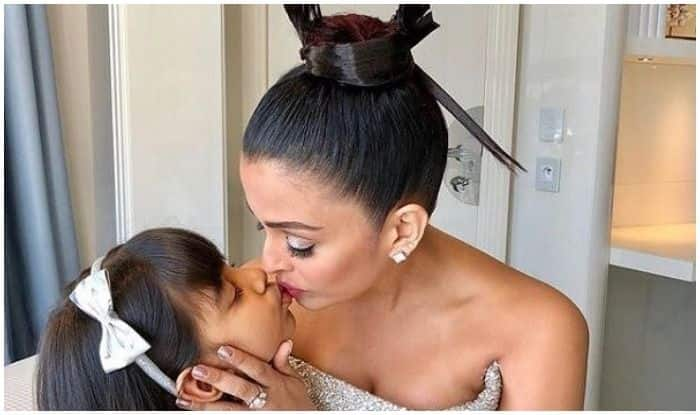 Cannes 2018 : Aaradhya Bachchan Kisses Her Mom Aishwarya Rai Bachchan Good Luck Before She Heads Out To Make Her Red Carpet Appearance