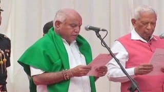 BS Yeddyurappa Sworn in as Karnataka Chief Minister by Governor Vajubhai Vala After Two Days of High Drama Politics
