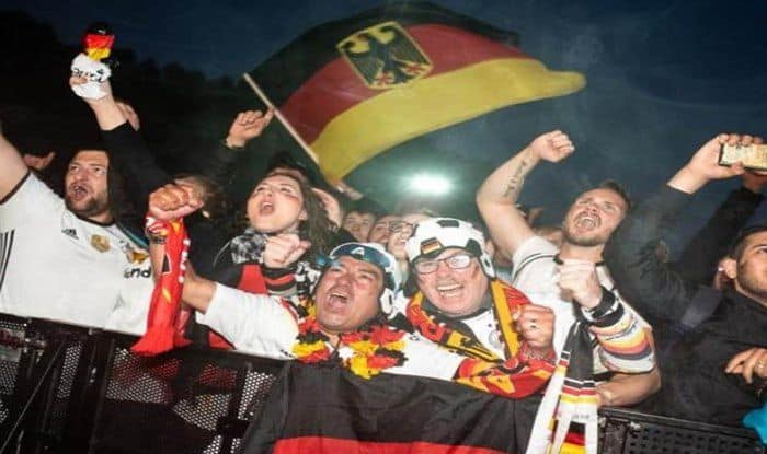 German Fans Ecstatic Win Over Sweden