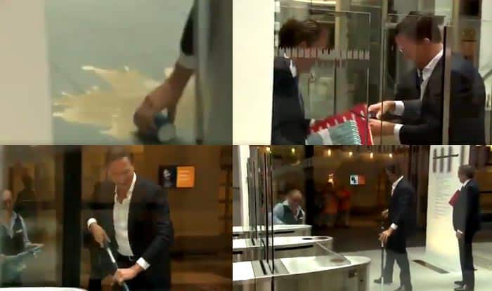 Mark Rutte, Prime Minister of Netherlands Cleans up His Coffee Spill; Video Goes Viral