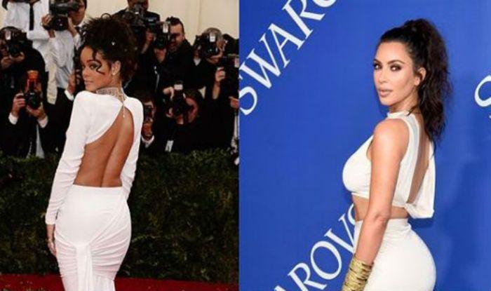 Did Kim Kardashian West Copy Rihanna's Look at The CFDA Awards?