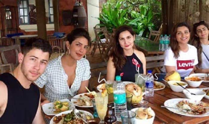 Priyanka Chopra, Nick Jonas and Parineeti Chopra Enjoy a Hearty Meal in Goa With Friends – See Pic