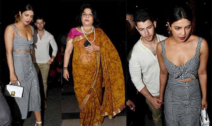 Priyanka Chopra And Nick Jonas Walk Hand-In-Hand in Mumbai as They Step Out For Dinner With Madhu Chopra – Pics