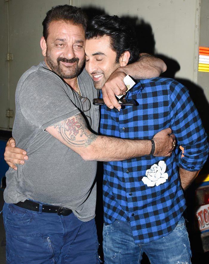 Ranbir Kapoor – Sanjay Dutt Shoot A Promotional Song For Sanju? See Pics