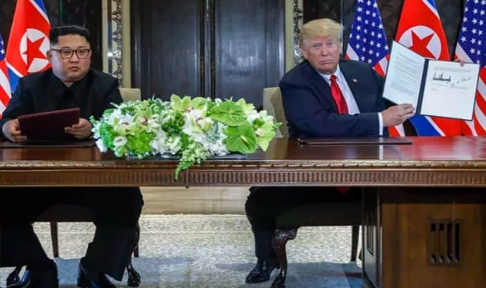Donald Trump-Kim Jong Un's Historic Summit Ends With Denuclearisation And Security Agreement – Read The Full Text of The Joint Document Here