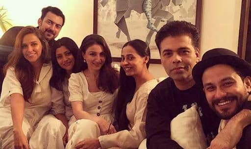 Newly Weds Neha Dhupia and Angad Bedi Share Special Moments at Dia Mirza's Bash – See Inside Pics